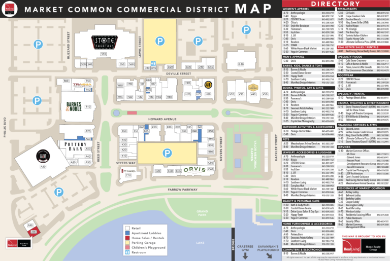 Market Common Area Map - Customized Printable Map brought to you by Real Living Home Realty Group